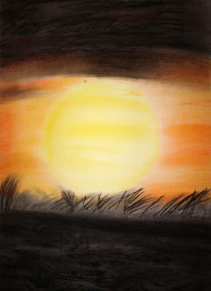 »Sonnenuntergang«, © mh Dezember 2009