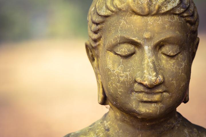 Buddha Nahaufnahme Gesicht