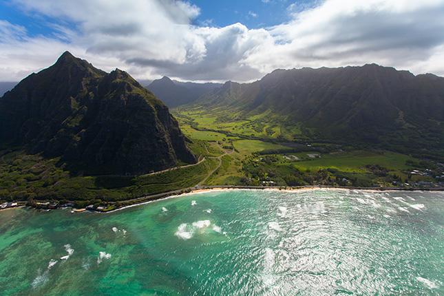 Küstenlinie Oahu, Hawaii