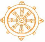 Rad der Lehre Buddhas, des Edlen Achtfachen Pfades
