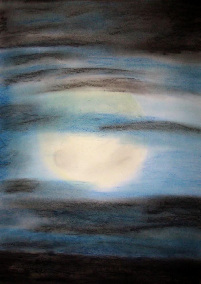 Pastellmalerei: »Depression«, Dezember 2009 | © mh